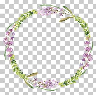 Wreath Watercolor Painting Flower Stock Photography PNG