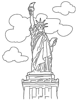 Statue Of Liberty New York Harbor The New Colossus Coloring Book Drawing PNG