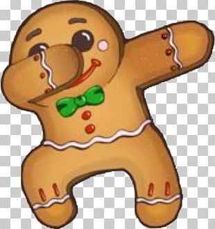 Gingerbread Man Dab T-shirt Christmas Cookie PNG