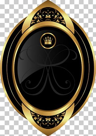 Hand Painted Golden Crown PNG