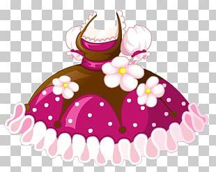 Polka Dot Skirt Pink Dress PNG