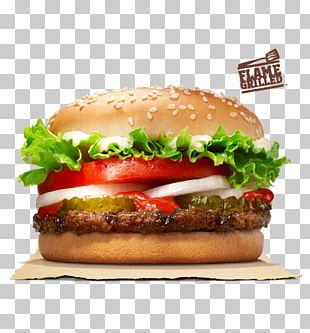 Whopper Hamburger Cheeseburger Chicken Sandwich Big King PNG