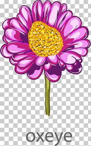 Watercolor Painting Purple Flower Arranging PNG