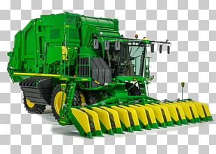 John Deere Agriculture Cotton Picker Tractor Heavy Machinery PNG