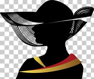 Woman With A Hat Silhouette PNG