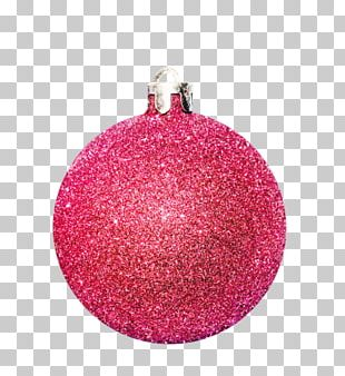 Christmas Ornament Glitter Pink M PNG