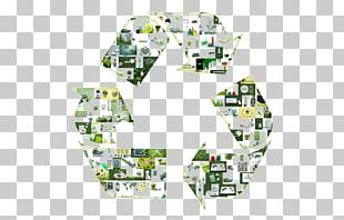 Recycling Raw Material Arrow PNG