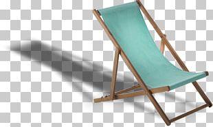 Deckchair Wood Garden Chaise Longue Furniture PNG