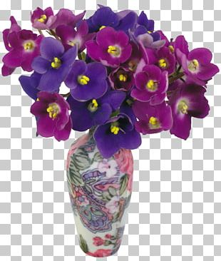 Violet Flowerpot PNG