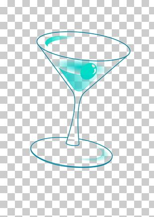 Martini Blue Lagoon Blue Hawaii Cocktail Garnish PNG