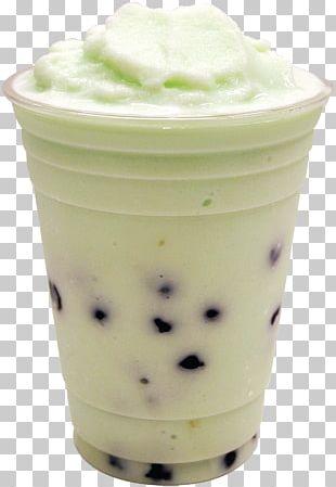 Ice Cream Bubble Tea Milk Green Tea PNG