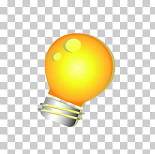 Incandescent Light Bulb Yellow PNG