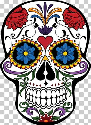 Calavera T-shirt Day Of The Dead Skull Mexican Cuisine PNG