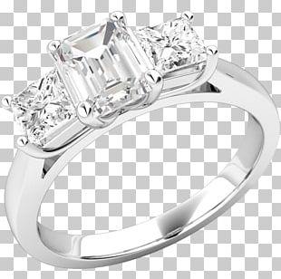 Diamond Wedding Ring Engagement Ring Emerald PNG