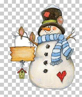 Santa Claus Christmas Snowman Greeting Card PNG