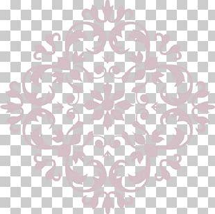 Stencil Renaissance Ornament Pattern PNG