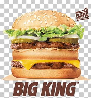 Big King Hamburger Whopper McDonald's Big Mac Cheeseburger PNG