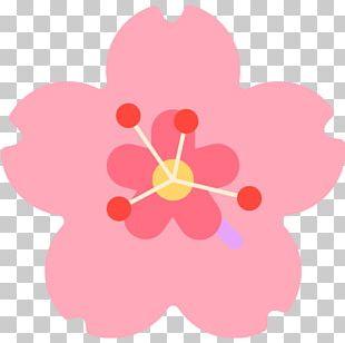 Emoji Sticker Flower Cerasus Hibiscus PNG