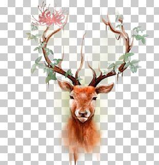 Deer Elk Moose Tattoo Paper PNG
