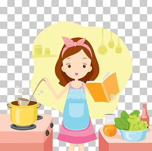 Cooking Girl Stock Woman PNG
