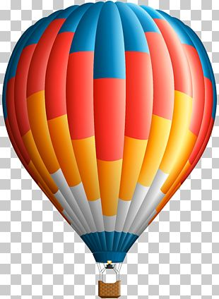 Hot Air Balloon Flight Paper PNG