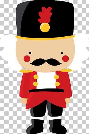 Santa Claus Christmas Soldier Nutcracker Doll PNG