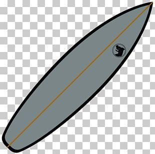 Surfboard Product Design Line PNG