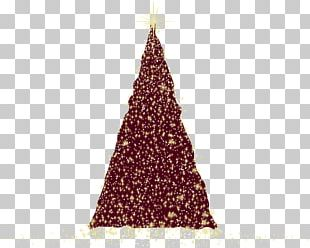 Christmas Tree Christmas Ornament Maroon Triangle Pattern PNG