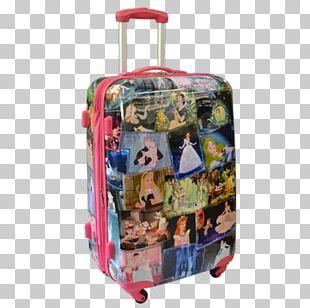 Hand Luggage Suitcase Travel Disney Princess Baggage PNG
