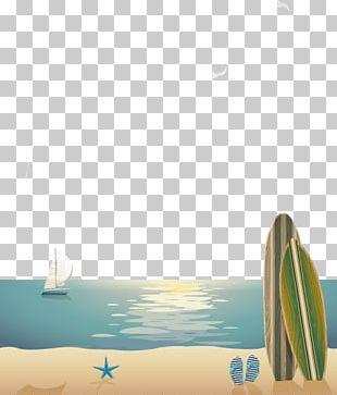 Sea Beach Poster Euclidean PNG