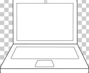 Laptop Line Art Drawing PNG