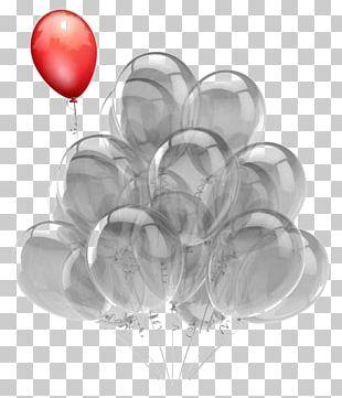 Hot Air Balloon Birthday Greeting Card Party PNG