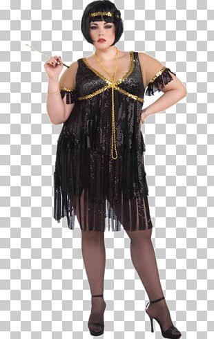 1920s Flapper Costume Dress Roaring Twenties PNG