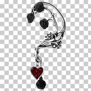 Earring Rose Jewellery Necklace Pewter PNG