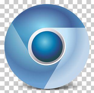 Blue Ball Computer Font PNG