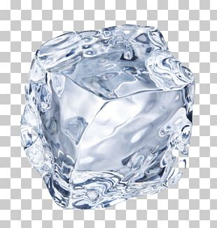 Blue Ice Ice Cube Crystal PNG