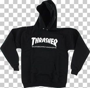 Hoodie T-shirt Thrasher Skateboarding PNG