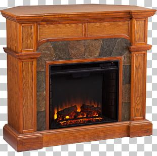 Electric Fireplace Hearth Furniture Fireplace Mantel PNG