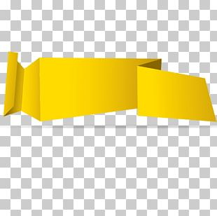 Paper Yellow Web Banner PNG