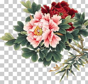 Flower Watercolor Painting Chinese Painting Gongbi PNG