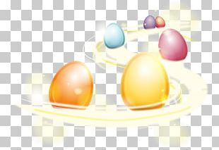 Easter Bunny Colorful Eggs Easter Egg PNG
