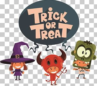 Trick-or-treating Halloween Illustration PNG