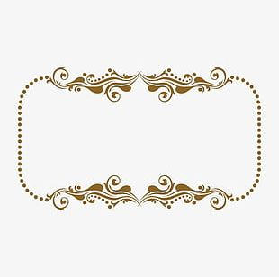 Classical Gold Frame Gold Pattern PNG