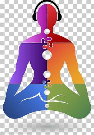 Yoga Puzzle Logo Illustration PNG