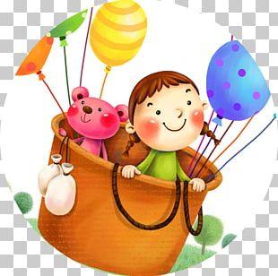 Child Hot Air Balloon Drawing Flight PNG