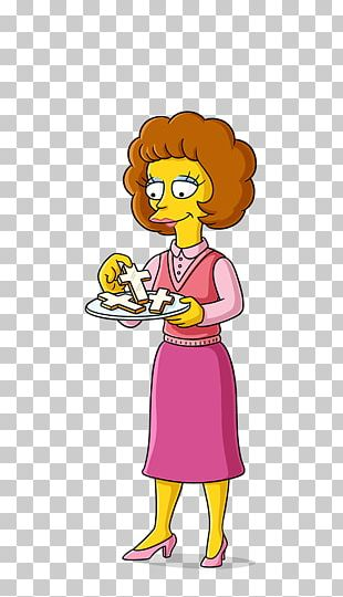 Maude Flanders Ned Flanders Marge Simpson Bart Simpson Mona Simpson PNG