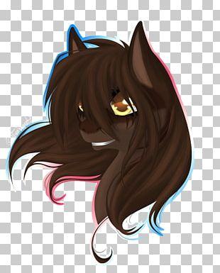 Whiskers Cat Horse Snout Demon PNG