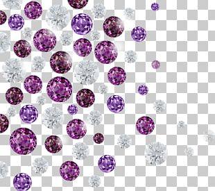 Diamond Purple Hair Iron Gemstone PNG