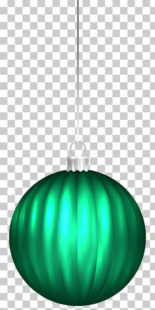 Lighting Green Christmas Ornament Illustration PNG