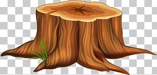 Tree Stump Cartoon Illustration PNG